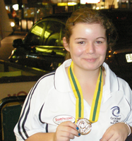 Emily gets a silver medal at the Aussies