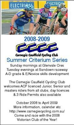 2008-2009 cccc crit card
