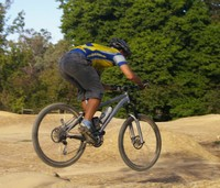 vanders jumps at the local bmx track